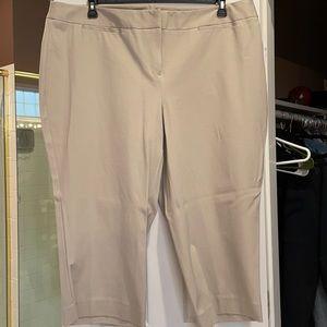 24W INC beige cropped pants